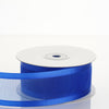 "25 Yards 1.5"" Royal Blue Organza Ribbon With Satin Edges"