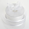 "25 Yards 1.5"" White Organza Ribbon With Satin Edges"