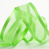 "25 Yards | 7/8"" DIY Apple Green Organza Ribbon With Satin Edge"