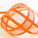 "25 Yards | 7/8"" DIY Orange Organza Ribbon With Satin Edge"