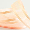 "25 Yards 7/8"" Peach Organza Ribbon with Satin Edge"