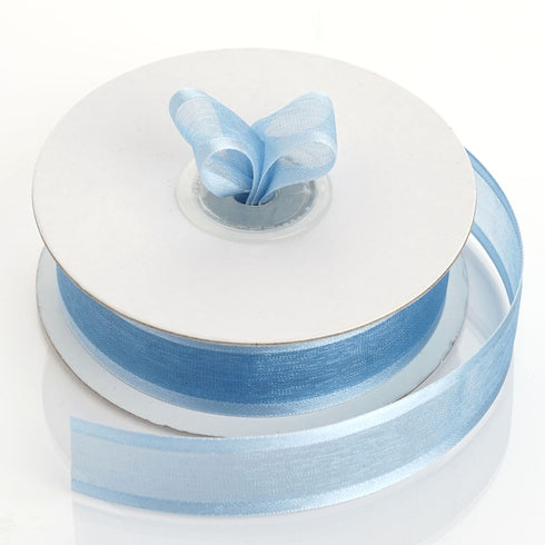 "25 Yards 7/8"" Organza Ribbon with Satin Edge"