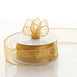 "10 Yards 1.5"" Gold Organza Wired Edge Ribbon Wholesale"