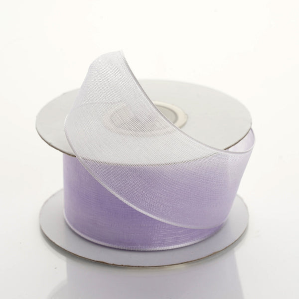 "10 Yards 1.5"" Lavender Organza Wired Edge Ribbon"