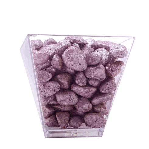 Pack of 2 Lbs - Metallic Rose Gold Decorative Crushed Gravel - Pebble Stone Vase Fillers