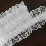 "STYLE ME PRETTY Ruffle Trim White 1.5"" x 25yard Lovely Lace"