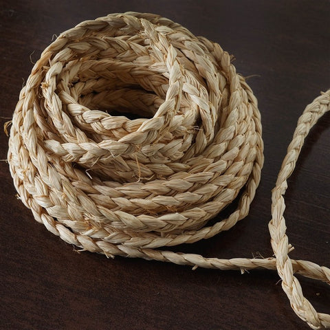 25 YARD Ruffle Trim Raffia Lace For Craft Decoration  - NATURAL
