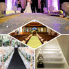 3FT x 50FT Champagne Glitter Wedding Aisle Runner, Non-Woven Carpet Runners