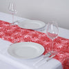 "Grandiose Rosette Satin Table Runner - 14"" x 108"" - Rose Quartz"