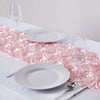 "Grandiose Rosette Blush Satin Runner For Table Top Wedding Catering Party Event Decorations - 14""x108"""