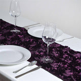 Wonderland Rosette Table Runners - Eggplant
