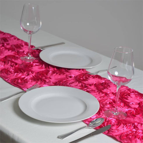Wonderland Rosette Table Runners - Fushia