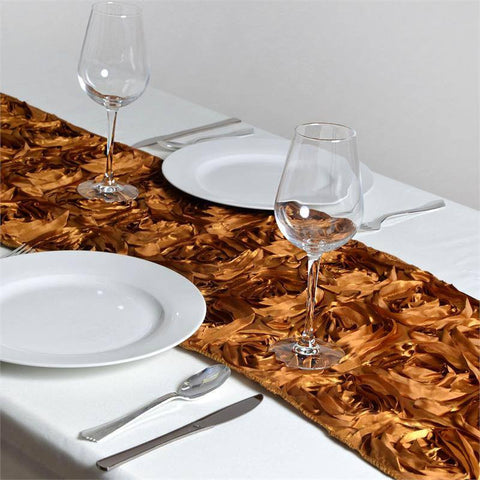 Wonderland Rosette Table Runners - Gold