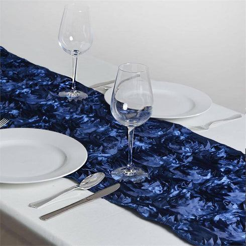 Wonderland Rosette Table Runners - Navy