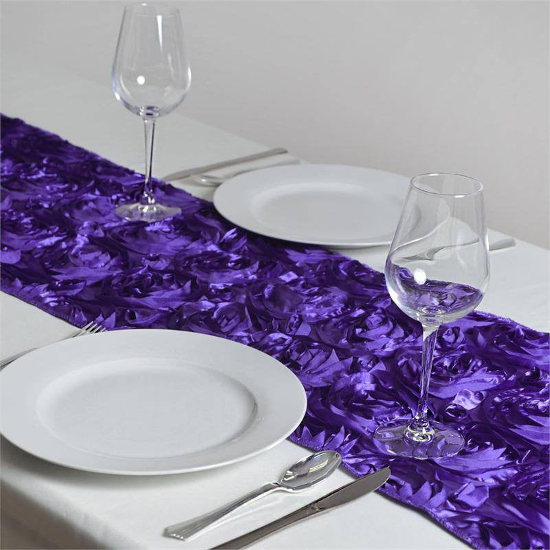 Wonderland Rosette Table Runners - Purple