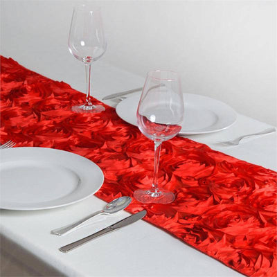 Wonderland Rosette Table Runners - Red