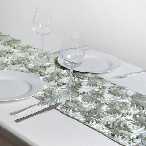 Wonderland Rosette Table Runners - Silver