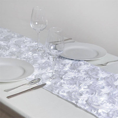 Wonderland Rosette Table Runners - White