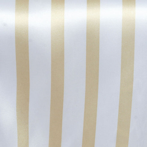 Ever Lovable Stripes Table Runner - White / Champagne