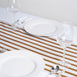 "12""x108"" Gold White / Gold Stripes Satin Table Runner"