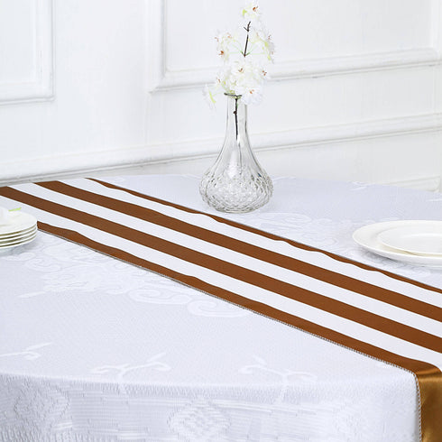 Satin Table Runners, Striped Table Runner, Wedding Table Runners