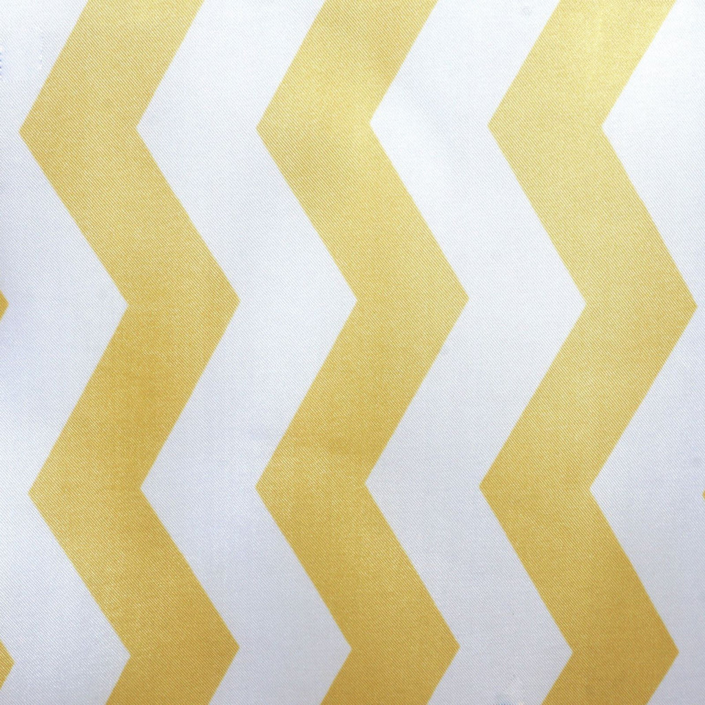 Jazzed Up Chevron Table Runners Champagne/White