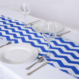 Jazzed Up Chevron Table Runners Royal Blue/White