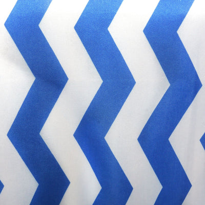 Royal Bluewhite Chevron Satin Table Runner Efavormart