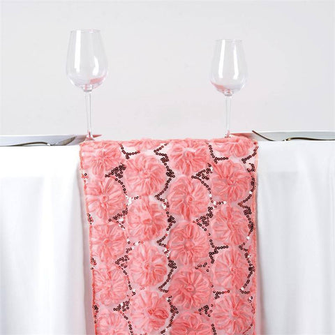 COUTURE Tulle Sequin Table Runner - Rose Quartz