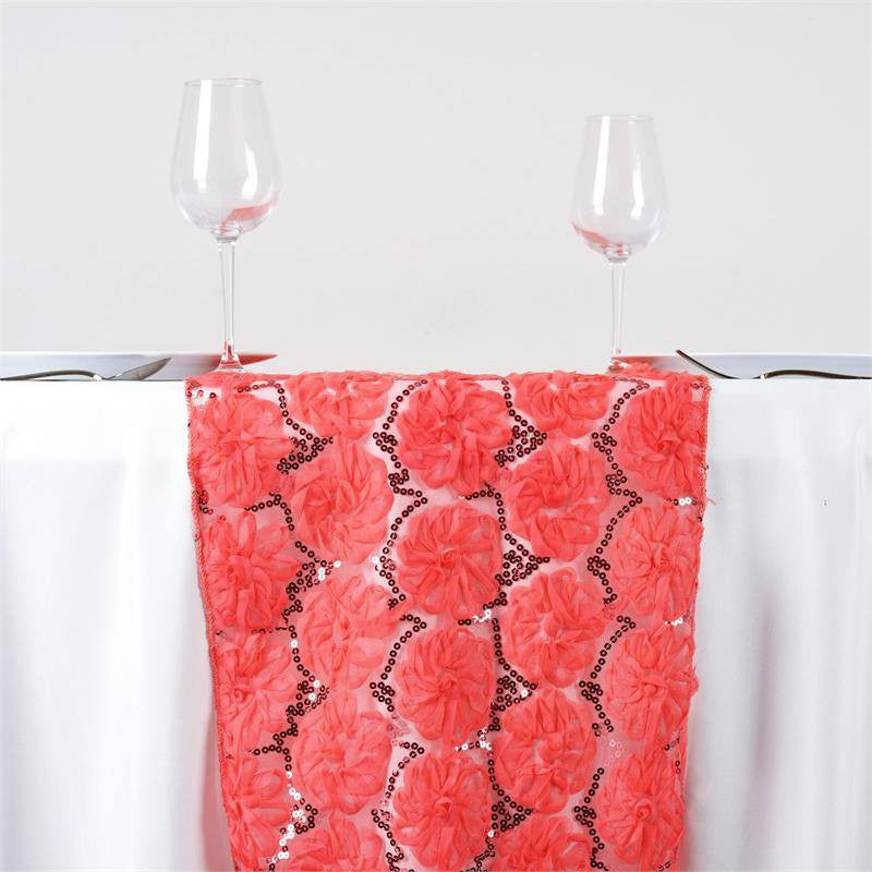 ... COUTURE Tulle Sequin Table Runner   Coral ...