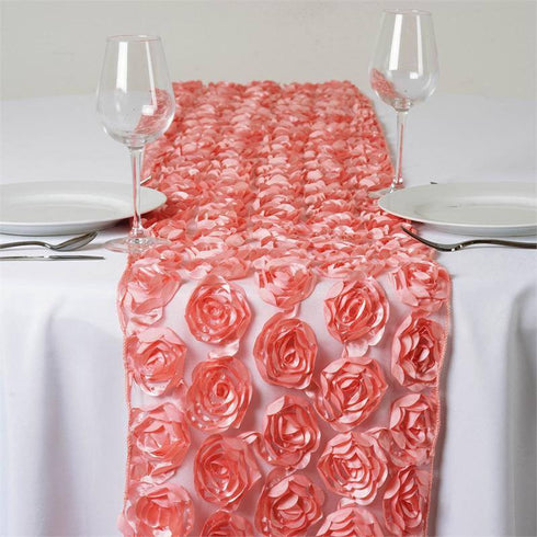 COUTURE Rosettes on Lace Runner - Rose Quartz