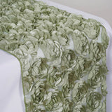 COUTURE Rosettes on Lace Runner - color- reseda