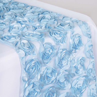 COUTURE Rosettes on Lace Runner - Serenity Blue