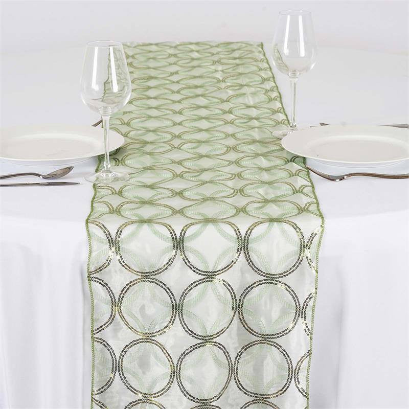 ... Glamorous Circle Sequin Table Runner   Reseda ...