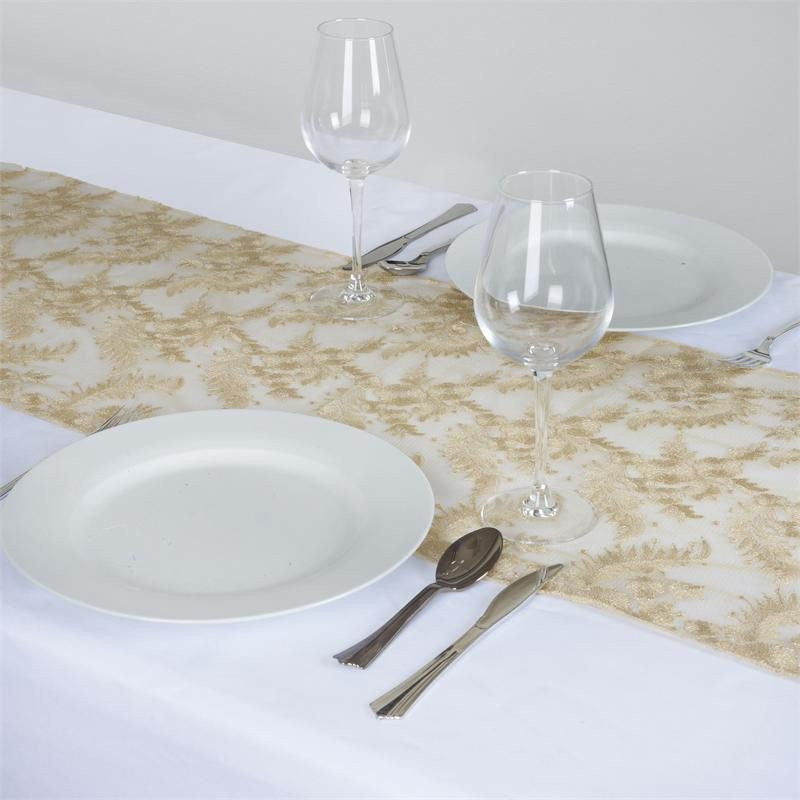 ... Fairy Dust Lace Table Runner   Champagne ...