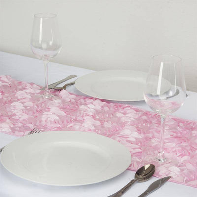Paradise Rosette Table Runners - Pink