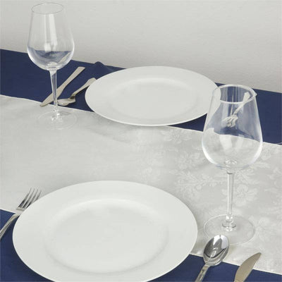 Adoringly Adorned Satin Lily Table Runner - Ivory