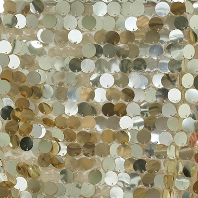 "Premium Payette Sequin Table Top Runners 108"" x 13"" - Champagne"