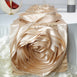 Champagne Silk Large Rosette Satin Table Runner