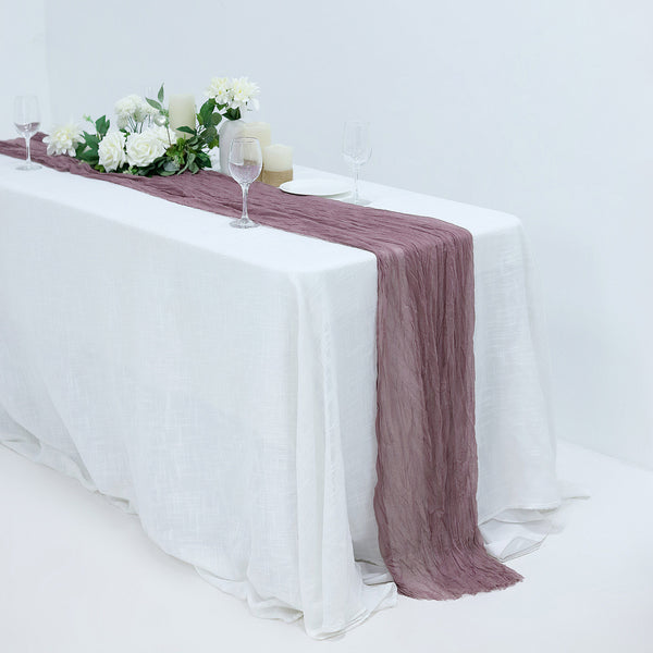 10FT Gauze Table Runner Cheesecloth Fabric For Wedding Arch, Arbor Decor - Violet
