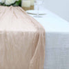 10FT Beige Cheesecloth Table Runner, Gauze Fabric Boho Wedding Arbor Decor
