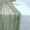 10FT Olive Green Cheesecloth Table Runner, Gauze Fabric Boho Wedding Arbor Decor