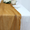 10FT Mustard Yellow Cheesecloth Table Runner, Gauze Fabric Boho Wedding Arbor Decor