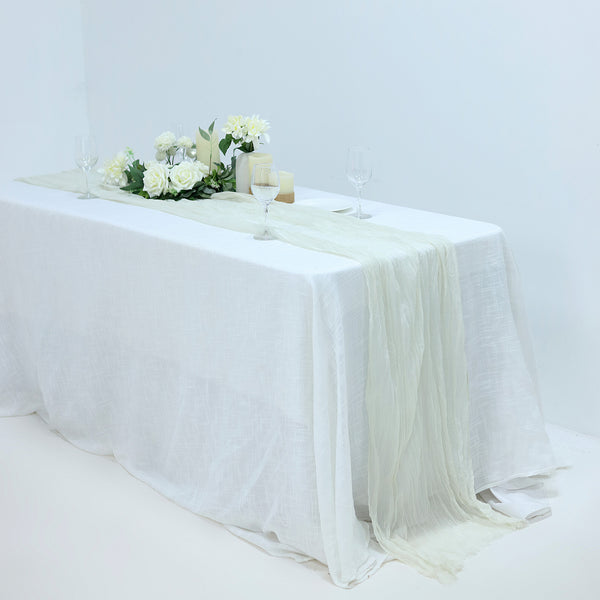 10FT Gauze Table Runner Cheesecloth Fabric For Wedding Arch, Arbor Decor - Ivory