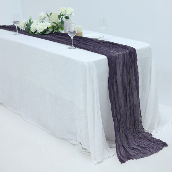 10FT Purple Cheesecloth Table Runner, Gauze Fabric Boho Wedding Arbor Decor