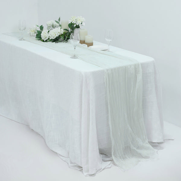 10FT Gauze Table Runner Cheesecloth Fabric For Wedding Arch, Arbor Decor - White