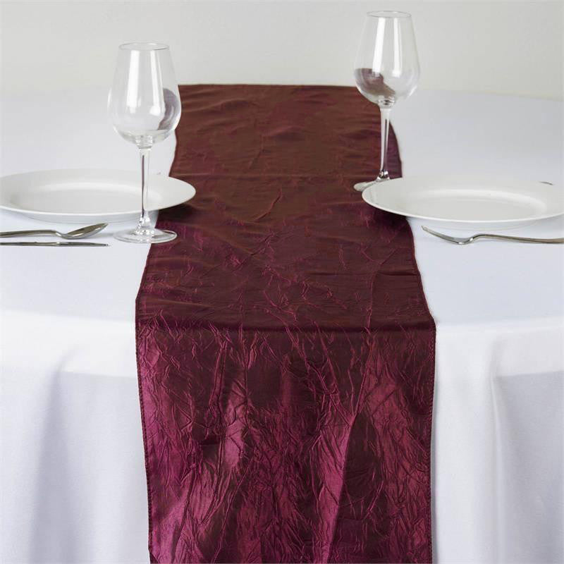 Awesome Wholesale Burgundy Taffeta Crinkle Table Runner For Wedding Party Event  Table Decoration | EFavorMart