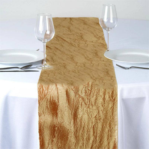 Gold Taffeta Crinkle Table Runner