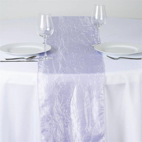 Lavender Taffeta Crinkle Table Runner