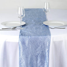 Serenity Taffeta Crinkle Table Runner